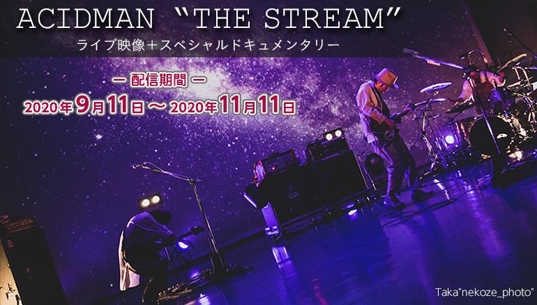 "ACIDMAN "" THE STREAM ""ライブ映像+スペシャルドキュメンタリー"